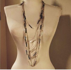 White House black market  multi strand chain